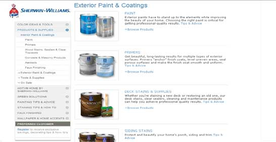 Sherwin Williams Exterior Products