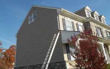 Exterior House Painting in-progress Leesburg Virginia