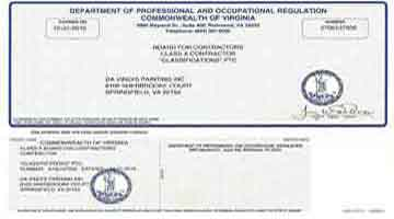 Contractor License for Painting