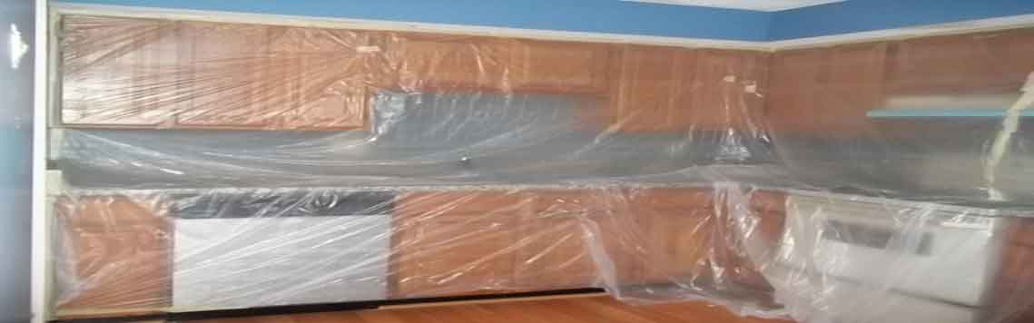 Complete Seal Protection of Kitchen for Painting